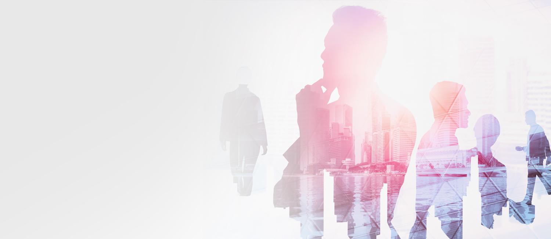profilo di persone con nello sfondo una città